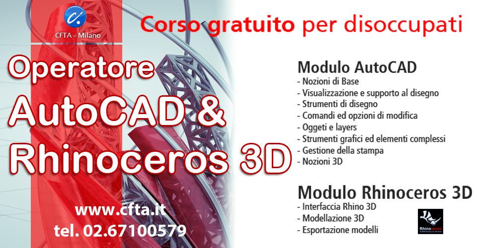 Operatore autocad rhinoceros 3d gratuito cfta for Modellazione 3d gratis